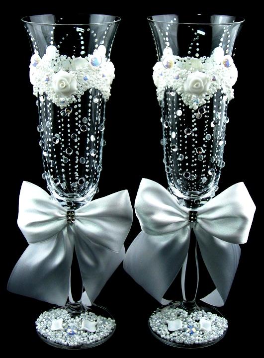 Свадебные бокалы как оформить